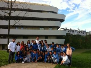Alumnos del Colegio Alemán en el Basque Culinary Center