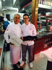 Juan Carlos de La Cruz en el Restaurante Adolfo de Toledo