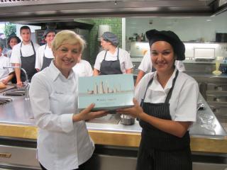 Sandra Barriuso en el Restaurante La Finca con Susi Diaz